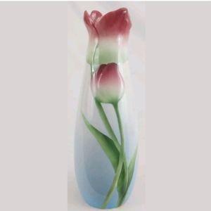 "Beautiful 9"" Franz Porcelain Tulip Vase XP1815 EC"
